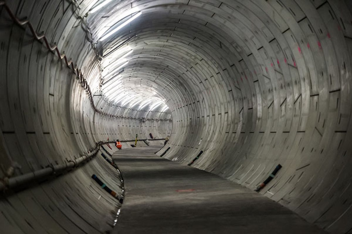 Docklands and south-east London Crossrail tunnels