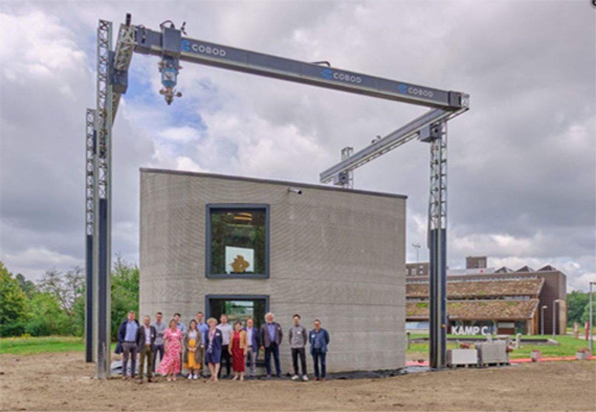 KampC: First two story building printed on site in Europe with BOD2