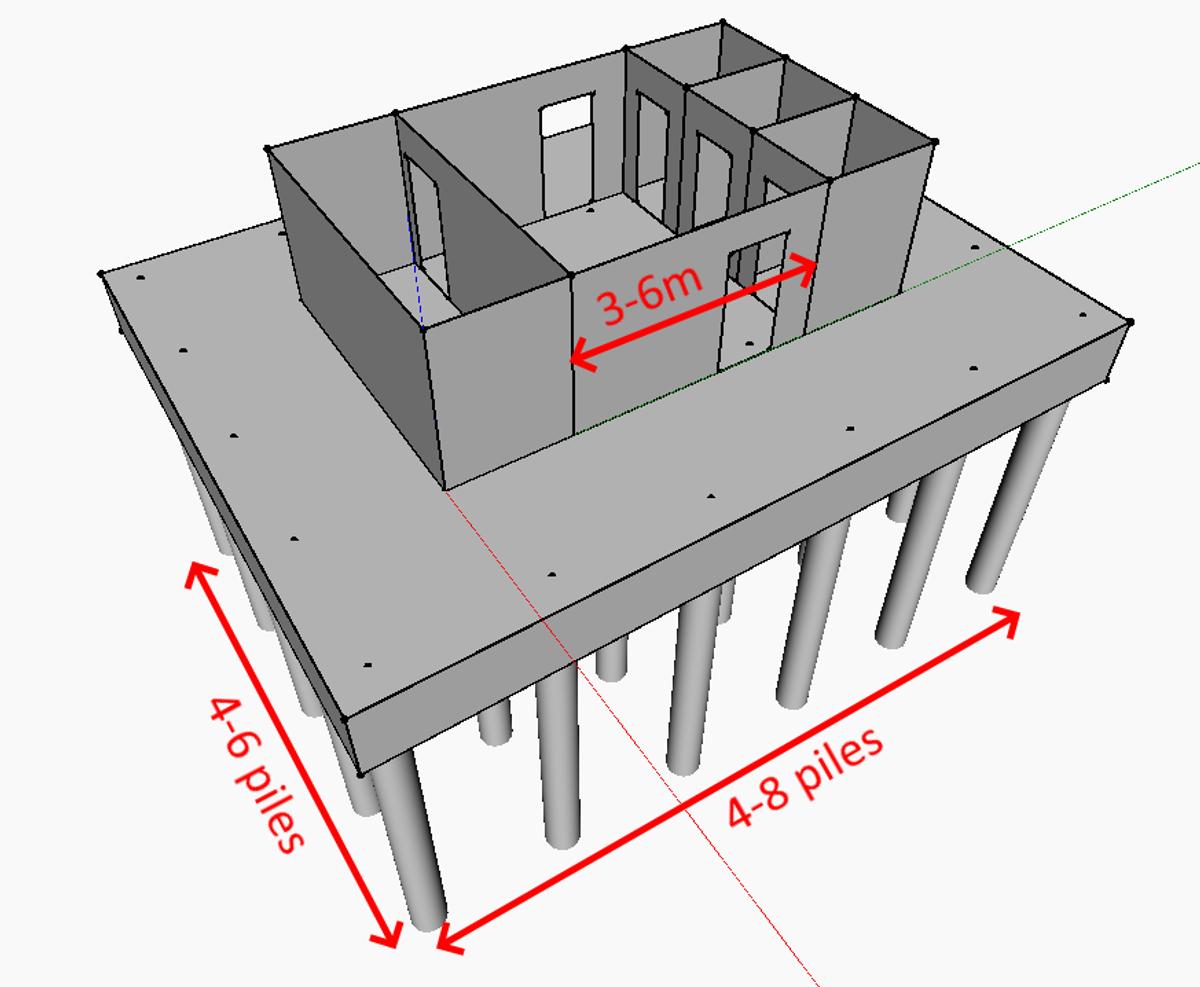Concrete high-rise structure